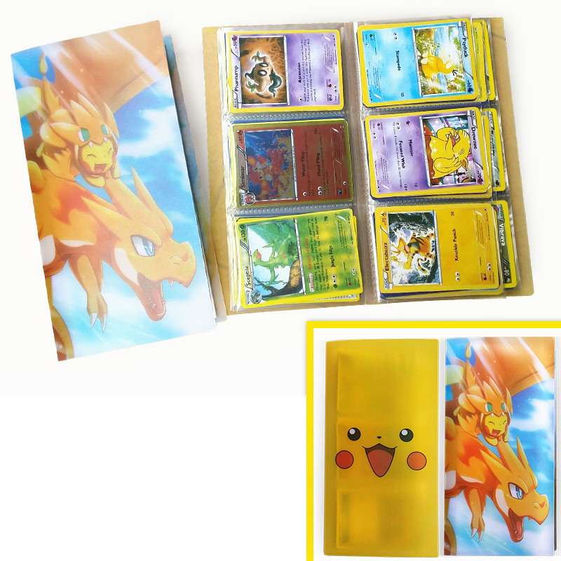 Kawaii Pokemon Cards Album Book English Anime Card Collectors Album Can Hold 84pcs Cards