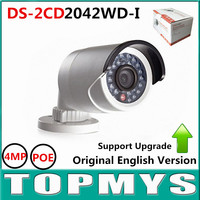Free Shipping 4pcs Lot Overseas Version DS 2CD2042WD I Full HD 1080P 4MP 120db WDR POE