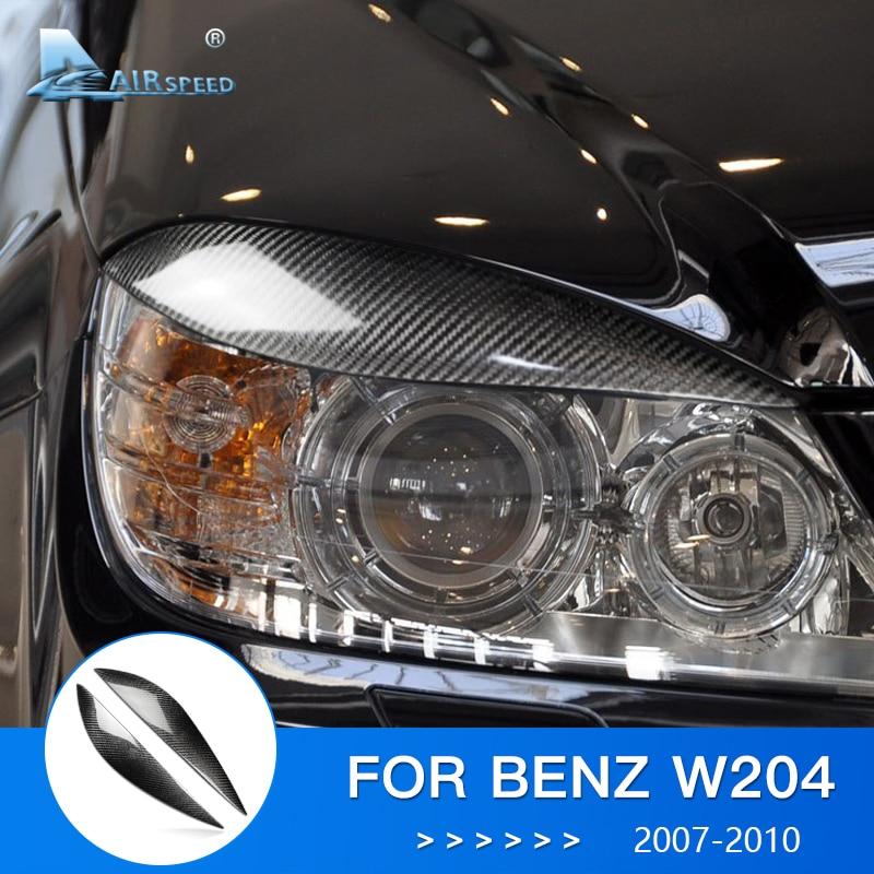 Airspeed for Mercedes Benz W204 Accessories W204 Mercedes Benz Stickers Amg for Mercedes W204 Carbon Fiber Car Headlight Sticker