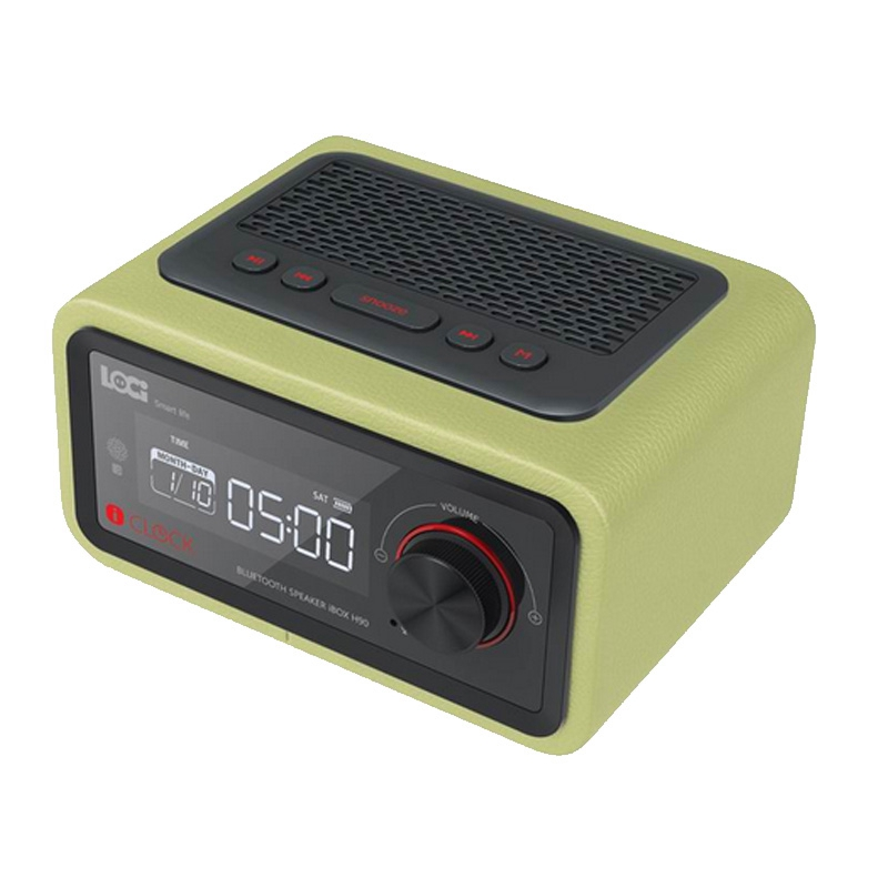Mini Clock Wireless Free Alarm Setting FM Radio Function Bluetooth Plug-in Speaker Portable Multimedia Small Stereo Subwoofer