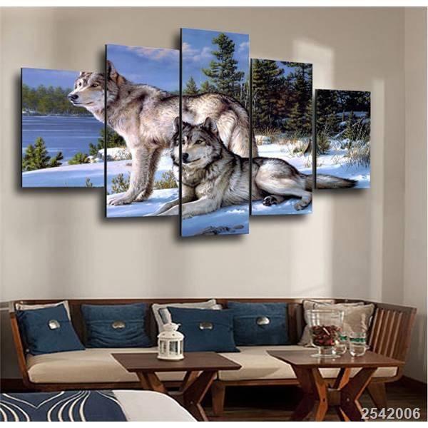 Hd Printed Wolf Figure Painting On Canvas Room Decoration Print Poster Picture Canvas Free Shipping/Ny-4001 Christmas gift