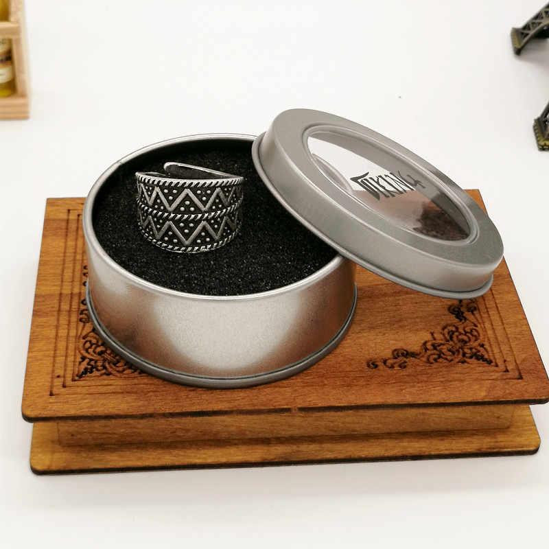 מתכוונן העתק Gotland תכשיטי טבעת גברים נשים אתני ויקינג טבעת זרוק חינם