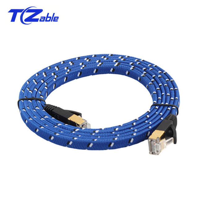 CAT7 Flat Ethernet Cable 10Gbps 8p8c RJ45 Network Connector Internet Cable For Computer Router Laptop Switch 5m 10m 15m 20m 30m