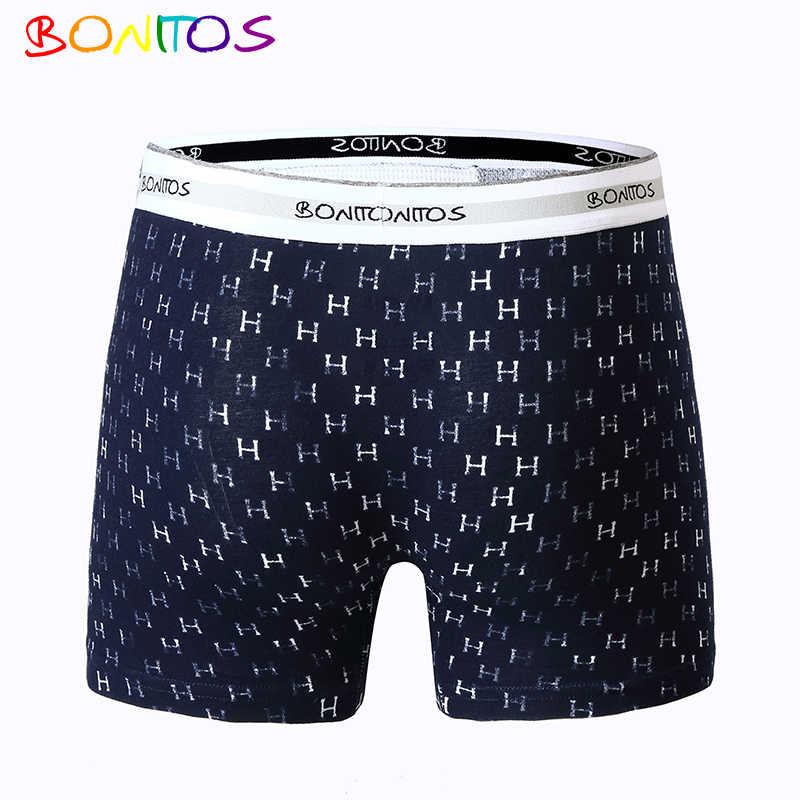 95633317426b0 ... BONITOS Лидирующий бренд трусы Мужской Мужское нижнее белье боксеры  мужские шорты-боксеры боксер хлопок сплошной ...