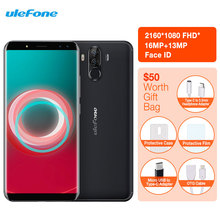 Ulefone Power 3S Smartphone Facial ID 6.0″18:9 FHD 6350mAh 4GB RAM+64GB 16M+13MP Android 7.1 Octa Core + 4 Cameras 4G Cell Phone