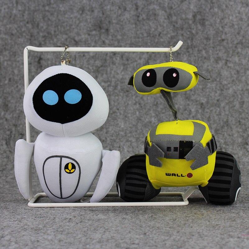 New Style 17cm Wall E EVE Walle Robot Stuffed plush font b toy b font keychain