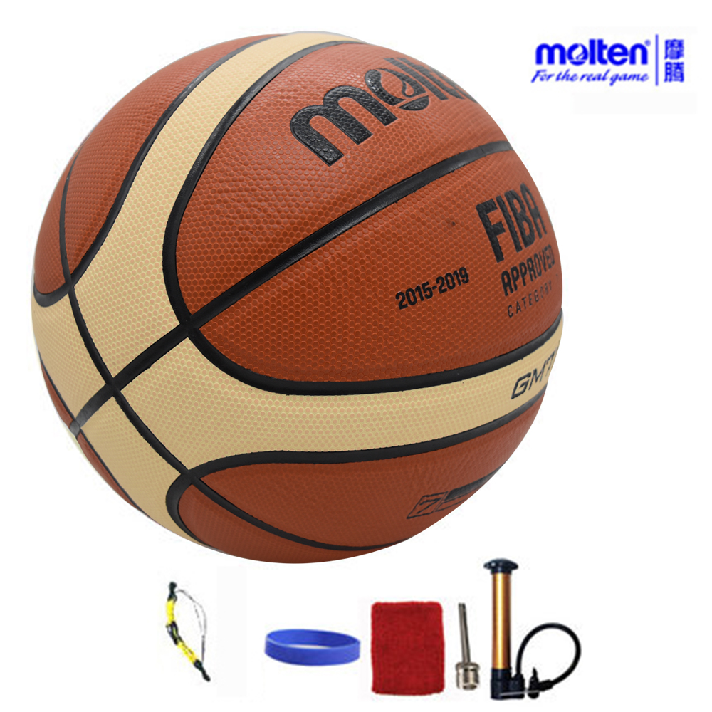 Original Molten Basketball Ball GM7X BGM7X 2017 NEW High Quality PU Leather Size 7 indoor Basketball With ball Net+Pin+Needle 4pcs new for ball uff bes m18mg noc80b s04g
