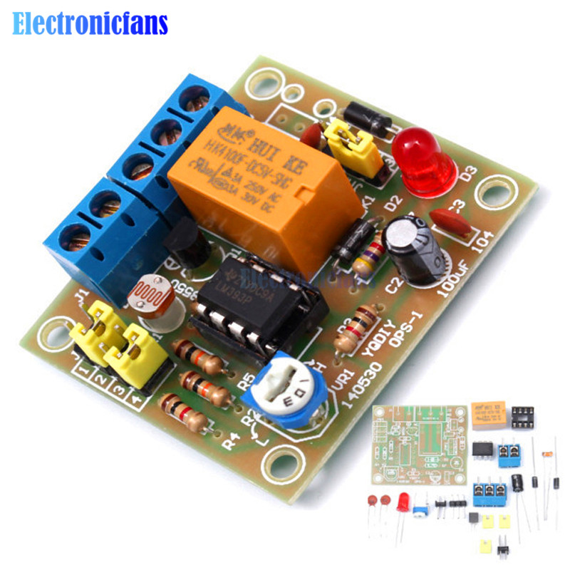Diy Kit Light-Operated Switch Light Control On/Off Switching Module Photosensitive Electro