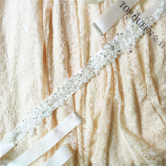 TOPQUEEN FREE SHIPPING S151 Pearls Wedding Belts Pearls Wedding sashes,Pearls Bridal Belts Pearls Bridal Sashes.