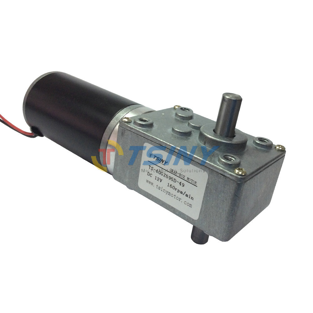 12V Double shaft electric dc worm gear box reduction motor dc 160 RPM12V Double shaft electric dc worm gear box reduction motor dc 160 RPM