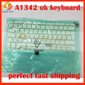 10pcs/lot NEW perferct A1342 UK keyboard clavier without backlight for macbook 13.3'' A1342 UK keyboard without baklight backlit