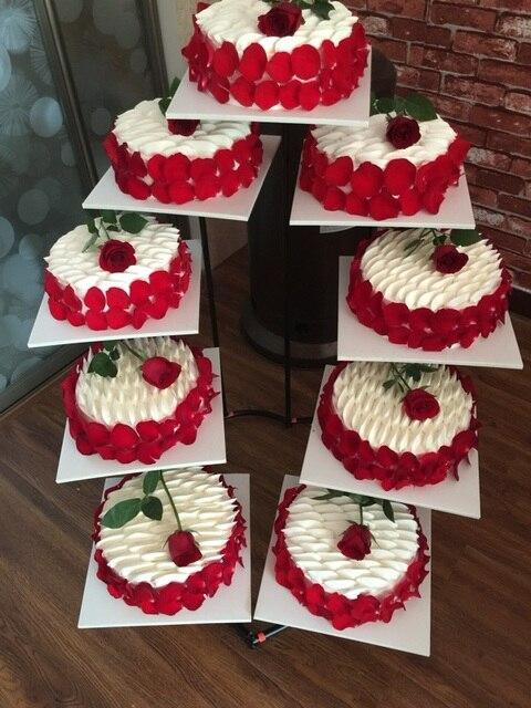 European Heart Shaped Iron Cake Frame Multi Layer Wedding Supplies