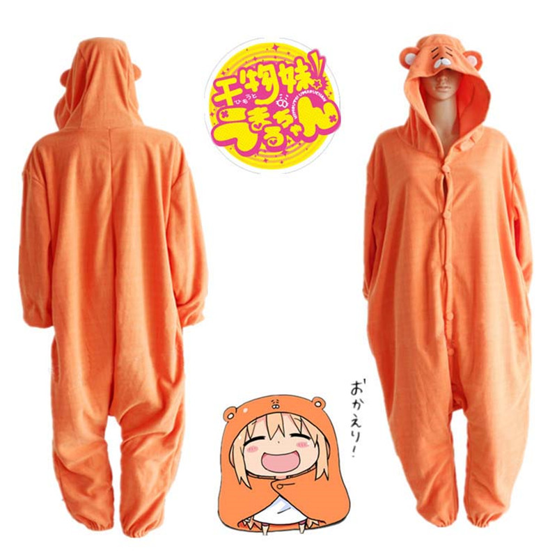 2017 New Japan Anime Himouto Umaru-chan Umaru Doma Cosplay Costume Hoodie Onesie Sleepwear Cartoon Cosplay Costumes Pyjamas
