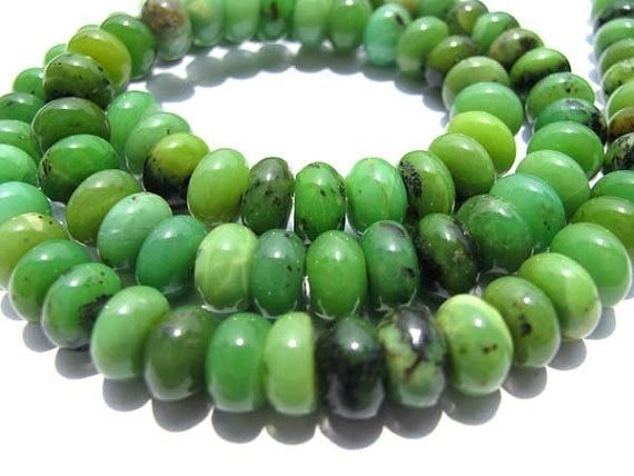 En gros 5 brins 3-12mm naturel chrysoprase pierre gemme australie jade vert heishi rondelle abacus ronde lâche perle
