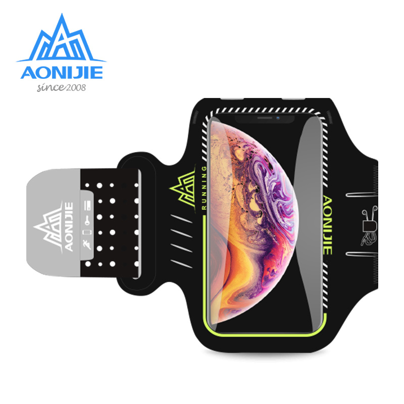AONIJIE A892S Water Resistant Cell Mobile Phone Sports Running Armband Arm Bag Jogging Case Holder Cover For Fitness Gym Workout