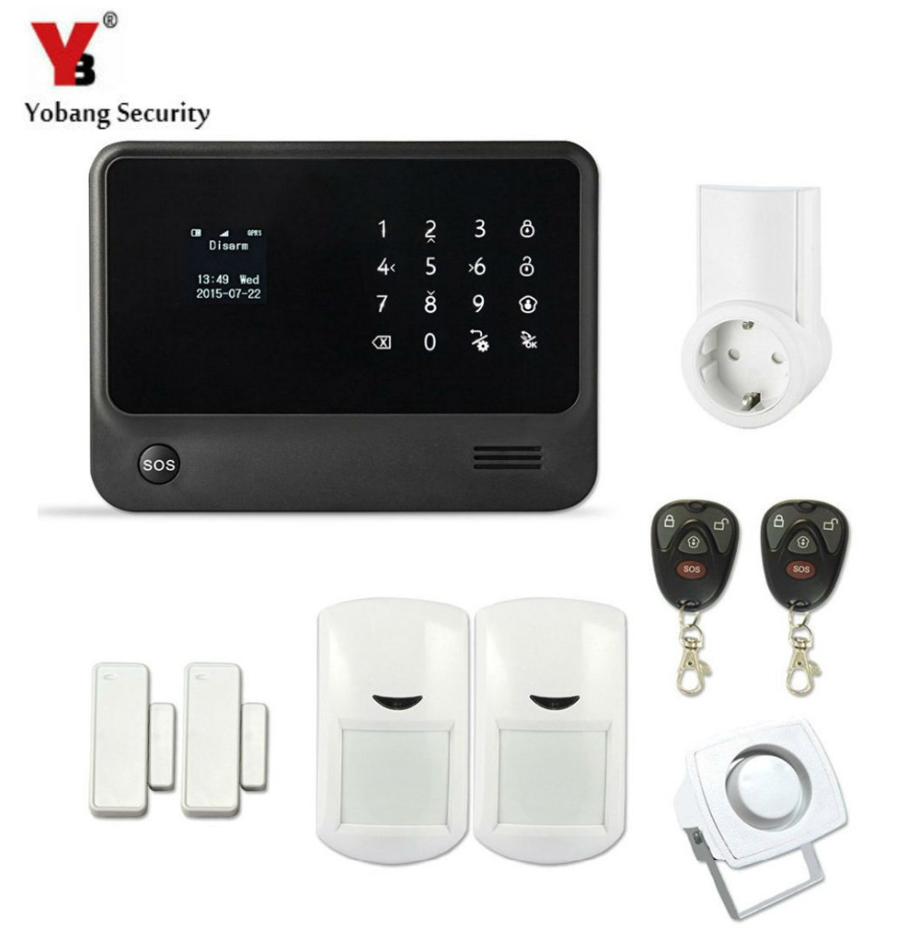YobangSecurity Wireless Socket G90B Security Wireless GSM WIFI Alarm System APP Control Door PIR Alarm Sensor wireless remote control power socket smart rf socket control power for home appliance compatible with g90b wifi gsm sms alarm