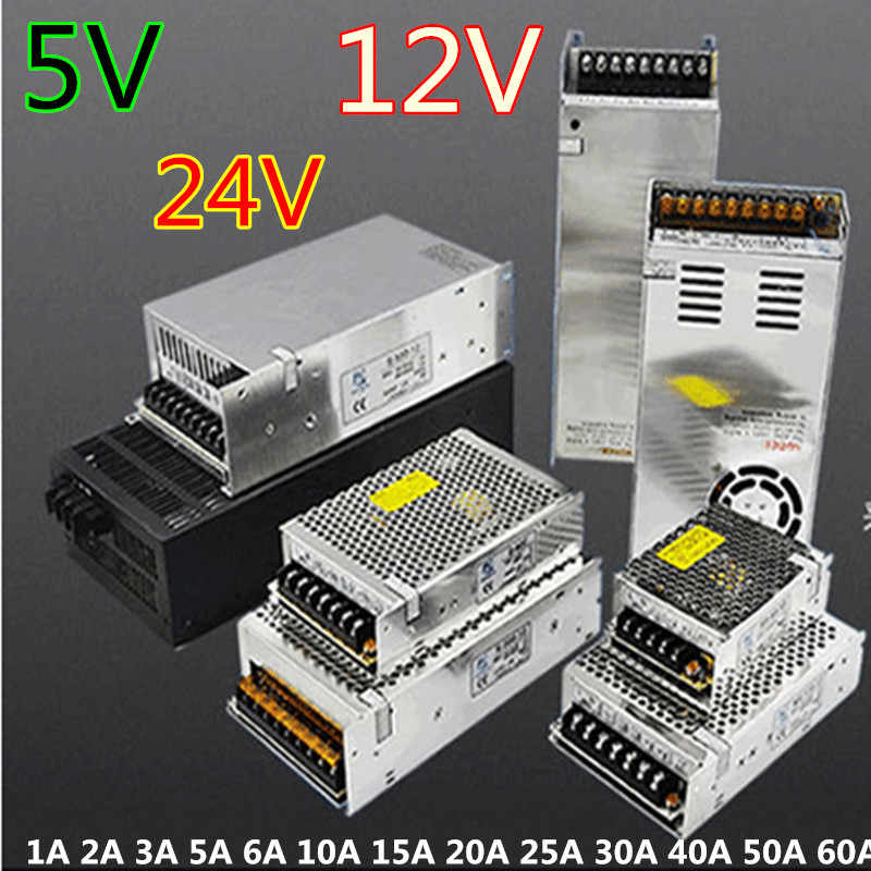 Power supply LED strip power supply adapter AC 100-240 V Biến Áp DC 12 V 5 V 24 V 24 Wát 36 Wát 120 Wát 200 Wát 240 Wát 360 Wát 600 Wát