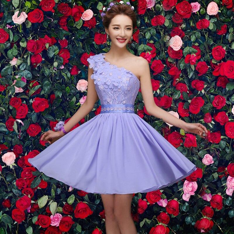 2017 new Bridesmaid Dresses plus size stock cheap under $50 a line short purple chiffon sexy elegant romantic simple jyx0259