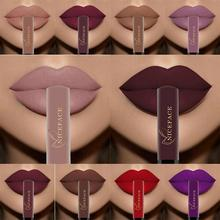 Waterproof batom Velvet Liquid Lipstick Sexy Red Lip Tint 25Color lip balm makeup Long Lasting Matte Nude Gloss Lipgloss цена