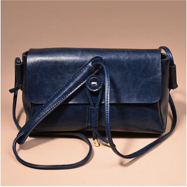 New vintage women bags wax cowhide small bag genuine leather women Messenger Bags shoulder cross-body bag freeshipping