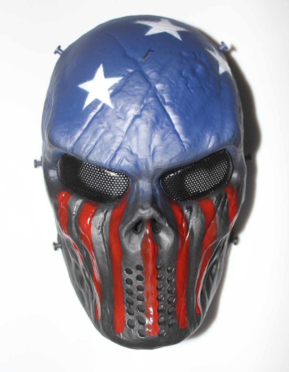 TACTICAL GEAR M06 AIRSOFT PAINTBALL COSPLAY FULL FACE PROTECTION SKULL MASK(Ghost Fire and Captain)