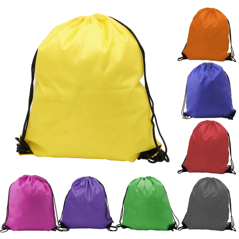 1Pc Hiking Backpacks Kids' Clothes Shoes Backpack Swimwear Bag P.E School Drawstring Book Sport Gym