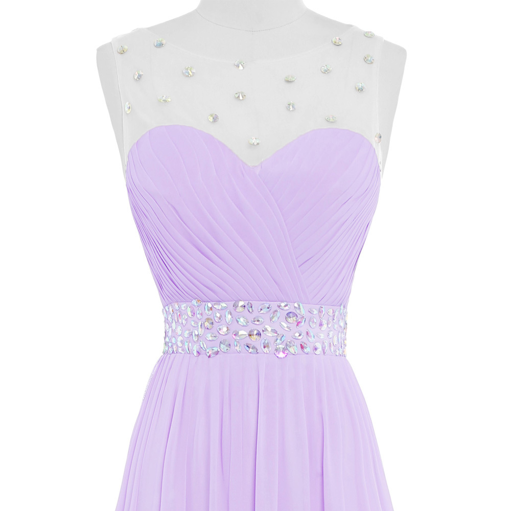 Nitree Lilas Rosa Púrpura Vestidos de dama de Honor Larga de Adultos ...