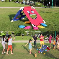 1 Set Cornhole Boards With 6 Bean Bags Outdoors Children Entertainments Playground Sandbags Sports Set For Kids Girls Boys TX005