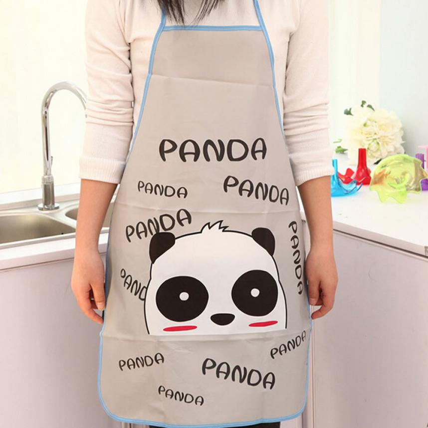Hot!2017 Popular Apron Women Waterproof Cartoon Kitchen Cooking Bib Apron drop shipping  ...