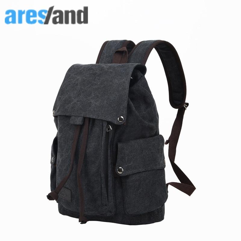 Aresland 2017 Top Quality Canvas Folderable Men s Women s Backpack Backpacks for Women Mochila Mochilas