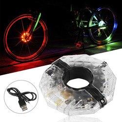 Rower jazda na rowerze koło rowerowe piasty światła 8 Led lampa błyskowa LED rower jazda na rowerze rower lampa koło Led światła akcesoria rowerowe