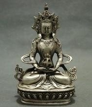 China silver copper Tibetan Buddhism guanyin bodhisattva figure of Buddha