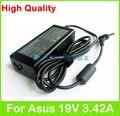 19 V 3.42A 65 W AC laptop adaptador de alimentação para Asus F83 K40 K41 K42 K43 K45 K450 K46 K84 M2 M2000 N43 N45 N82 P41 P42 carregador