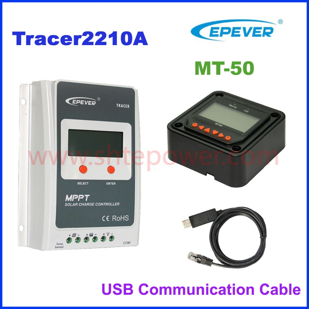 EPEVER 20A MPPT Solar Charge Controller Tracer2210A 12V 24V Auto Work 100VDC input EPSOLAR NEW Brand Solar Regulator LCD Display epsolar tracer mppt 20a 2215bn solar charge controller solar tracker controller for renewable energy system