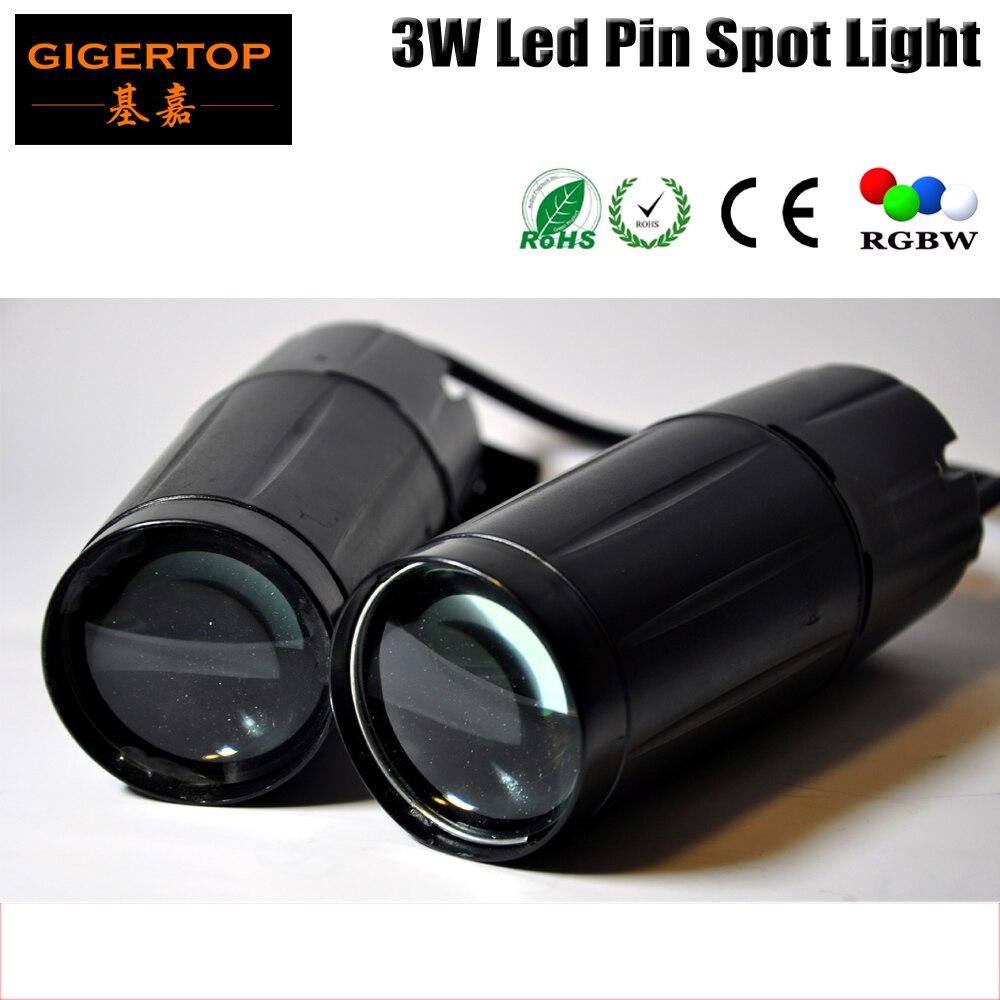 Gigertop 3 w LED Pin Spot Light Blanc Couleur Spot Faisceau Effet LED Pluie Lumière Pour Disco Boule De Verre Led éclairage de scène TP-E20