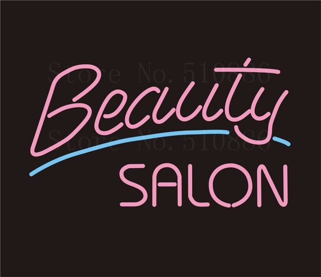 Custom NEON Sign Board Beauty Salon Spa GLlass Tube Bar Club Pub Display Store Shop Light