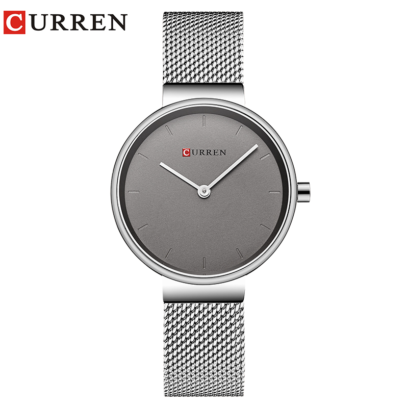 CURREN New Women Watch Fashion Dress Ladies Watches Stainless Steel Quartz Wristwatch Hot Sale Saat Clock Relogios Feminino