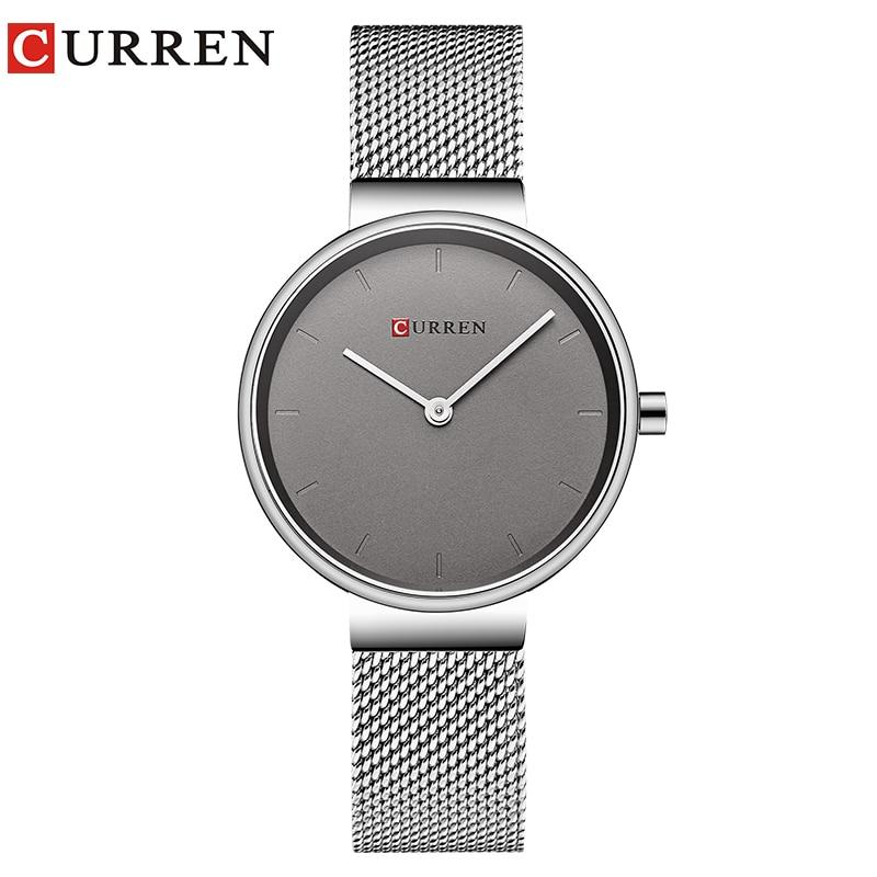 CURREN New Women Watch Fashion Dress Ladies Watches Stainless Steel Quartz Wristwatch Hot Sale Saat Clock Relogios Feminino