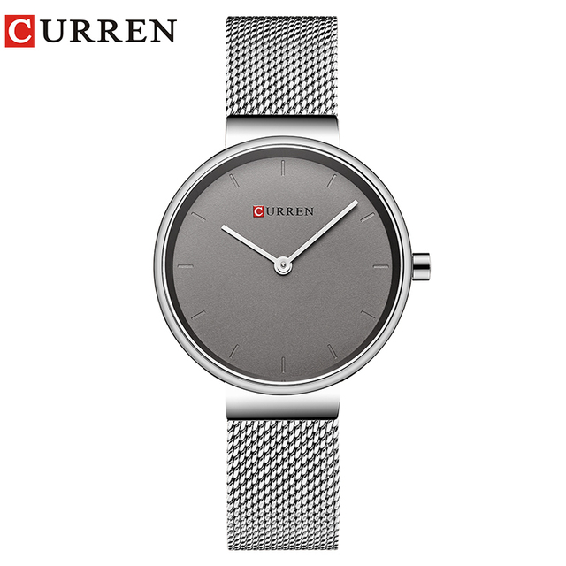 7f376830ab7 CURREN Novo Relógio de Vestido das Senhoras Da Forma Das Mulheres Relógios  de Quartzo do Aço Inoxidável Relógio de Pulso Hot Sale Saat Relógio relogios  ...