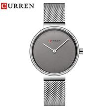 CURREN New นาฬิกาผู้หญิงแฟชั่นสุภาพสตรีนาฬิกาสแตนเลสสตีลนาฬิกาข้อมือควอตซ์ขายร้อน Saat นาฬิกา relogios feminino