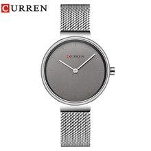 CURREN reloj de cuarzo de acero inoxidable para mujer, reloj de pulsera femenino, de moda, gran oferta