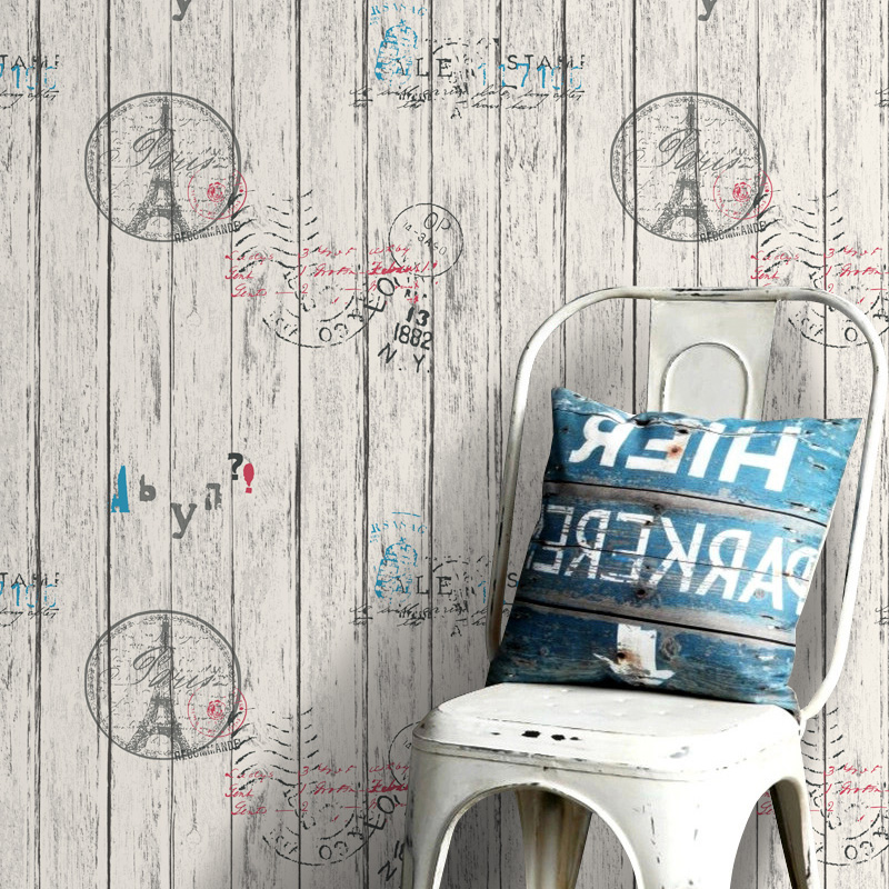 Self - adhesive nostalgia thick PVC wood wallpaper furniture renovation dormitory wallpaper waterproof decorative-39