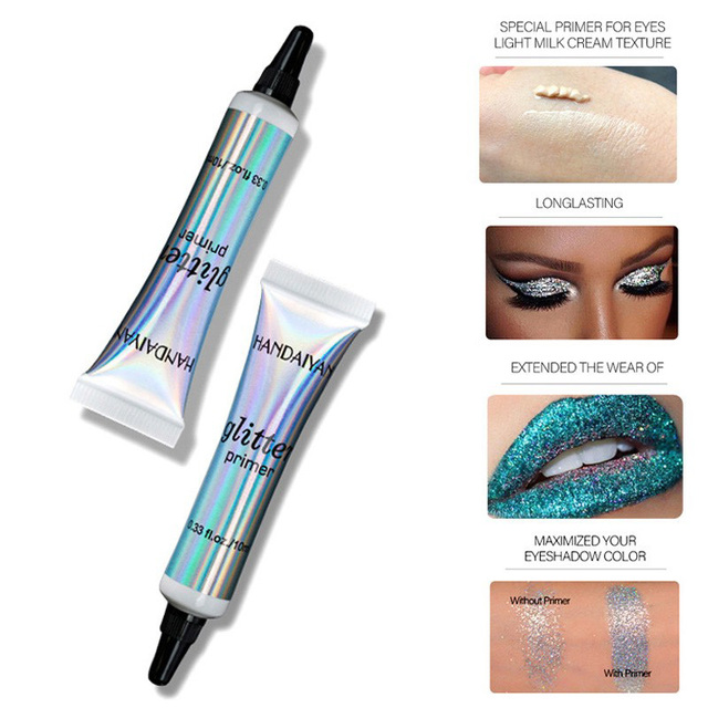 Sequin Glitter Primer Eyeshadow Pigment Cream Face Lip Eye Makeup Primer Cream SSwell 5
