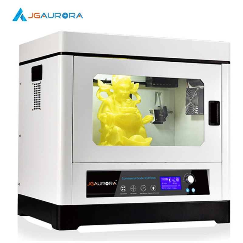 все цены на 3SETS [JGAurora] A-8 3D Printer Fully Closed Metal Frame Industrial Grade Volume Max 350*250*300mm High Precision Z axis 0.002mm онлайн