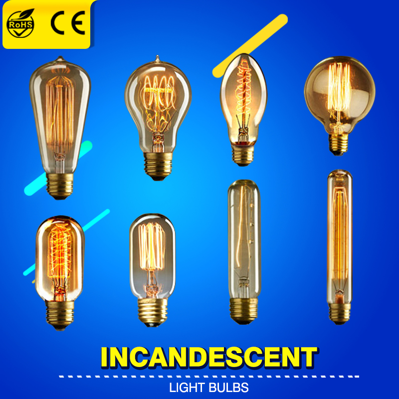 Lightinbox Edison Light Bulb Vintage 40W E27 Bulb Modern Lighting Lamparas Colgantes Lustres Pendente Led Pendant Retro Lamp
