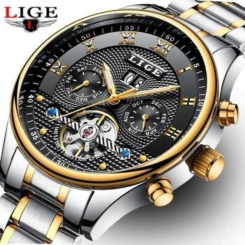 2017 New LIGE Luxury Brand Automatic mechanical Sport Watches Reloj Hombre Men Casual Waterproof Wristwatch Relogio Masculino lige horloge 2017