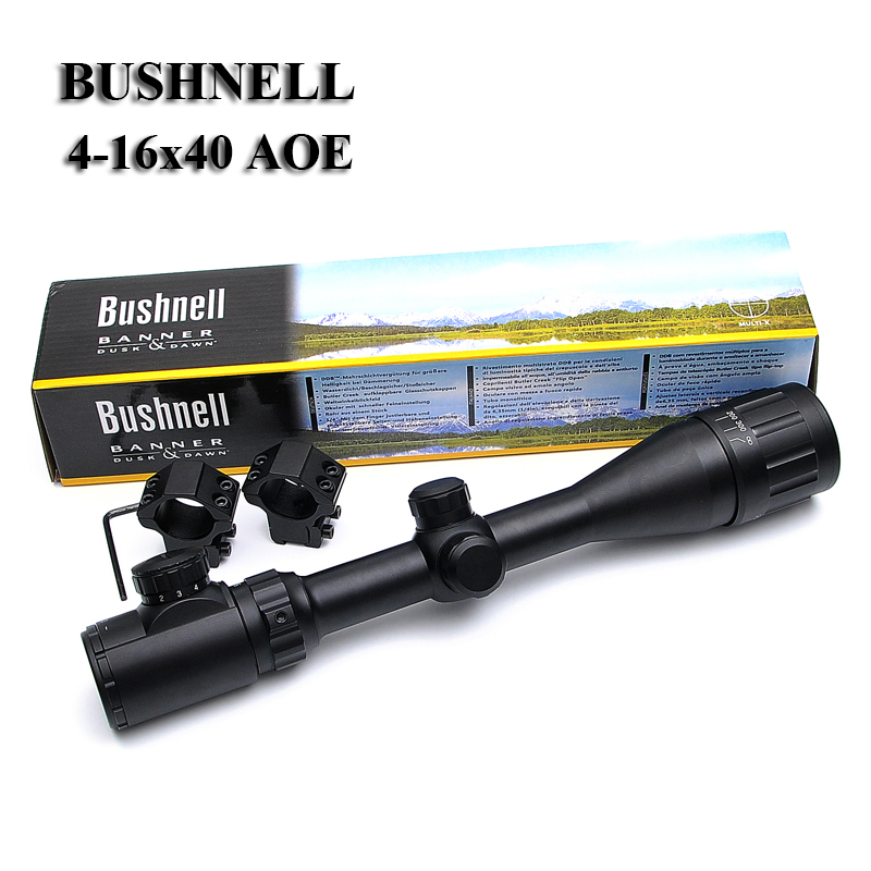 BUSHNELL 4-16X40 AOE Optics Riflescope Red&Green Dot Illuminated Sight Rifle Scope Sniper Gear For Hunting Scopes  Airsoft Rifle бинокль bushnell киев