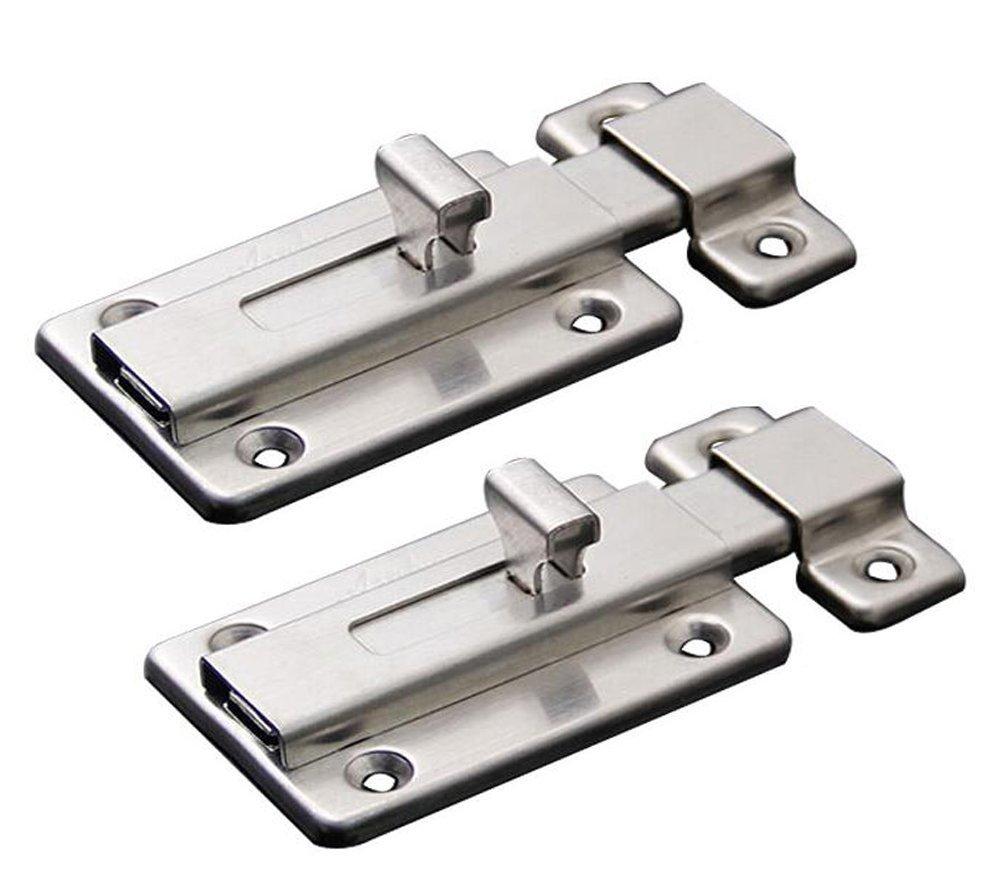 2pcs Stainless Steel Door Latch Sliding Lock Barrel Bolt 2