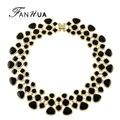 Declaração colares collares 2016 esmalte da cor do ouro verde roxo azul preto maxi collar choker colares para as mulheres