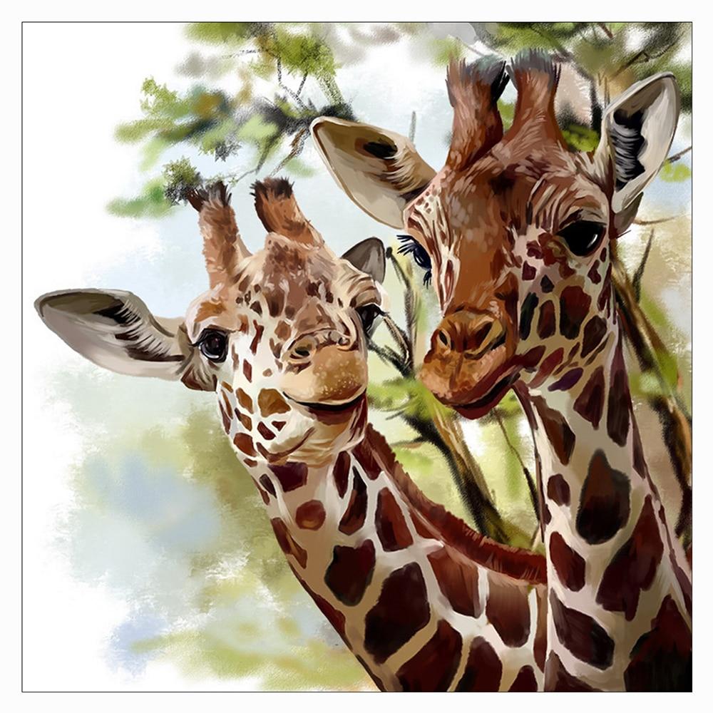 Full Square/Round Drill 5D DIY Diamond Painting Animal giraffe Diamond Embroidery Cross Stitch 3D Home Decor giftFull Square/Round Drill 5D DIY Diamond Painting Animal giraffe Diamond Embroidery Cross Stitch 3D Home Decor gift
